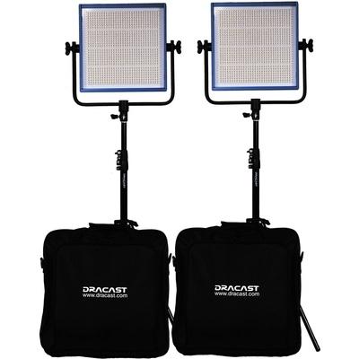 Dracast LED1000 Pro Daylight 2-Light Kit with V-Mount Battery Plates and Stands
