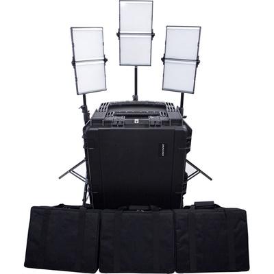 Dracast Silver Series Foldable LED1000 Daylight 3-Light Kit