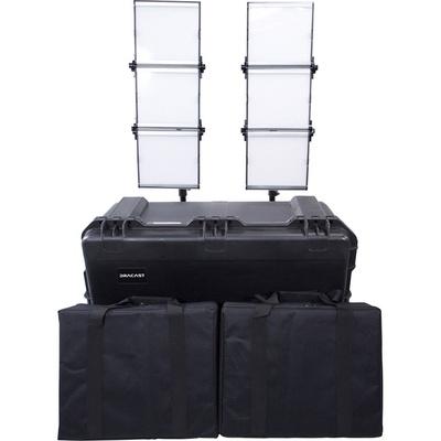 Dracast Silver Series LED1500 Foldable Bi-Color LED 2-Light Kit