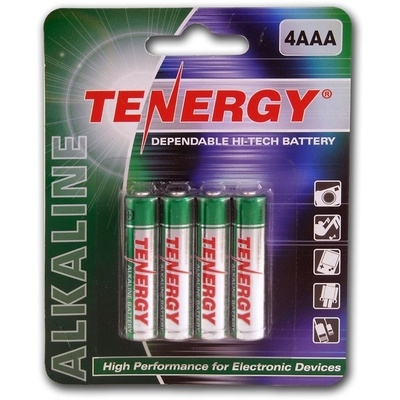 Fenix Flashlight Tenergy Standard AAA Alkaline Batteries (1.5V, 4-Pack)