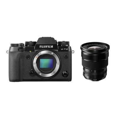 Fujifilm X-T2 Mirrorless Digital Camera with XF 10-24mm f/4.0 R OIS Lens