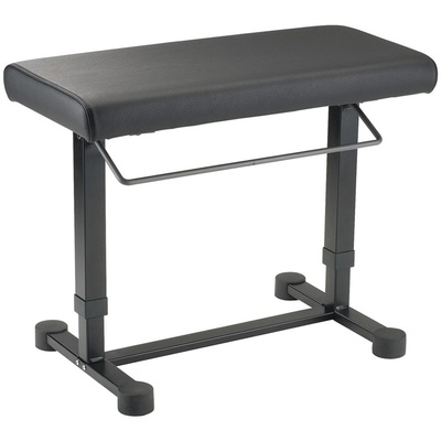 K&M 14080 Uplift Piano Bench (Imitation Leather, Black)