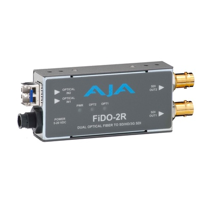 AJA FiDO-2R Optical Fiber to SD/HD/3G-SDI Converter