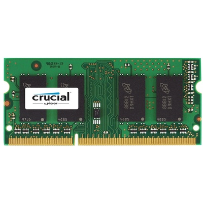Crucial 4GB 204-Pin SODIMM DDR3 PC3-14900 1866 MT/s Memory Module