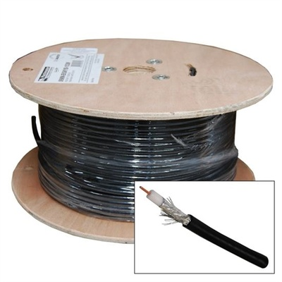DYNAMIX RG6 Shielded Cable Roll (Black, 100m)