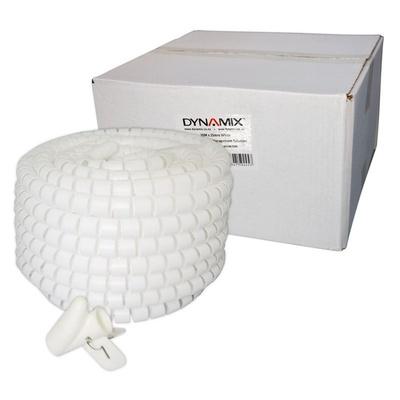 DYNAMIX Easy Wrap Cable Management Solution (White, 20m x 25mm)