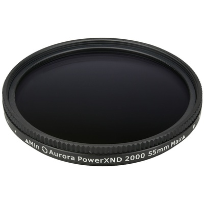Aurora-Aperture 55mm PowerXND 2000 Variable Neutral Density 1.2 to 3.3 Filter (4 to 11 Stops)
