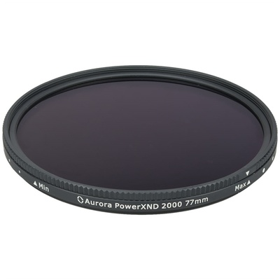 Aurora-Aperture 77mm PowerXND 2000 Variable Neutral Density 1.2 to 3.3 Filter (4 to 11 Stops)