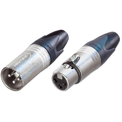 Neutrik XX Bag Series Male and Female XLR Connectors Kit (Silver Housing/Silver Contacts)