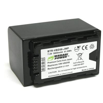 Wasabi Power Battery for Panasonic VW-VBD58 and AG-VBR89G