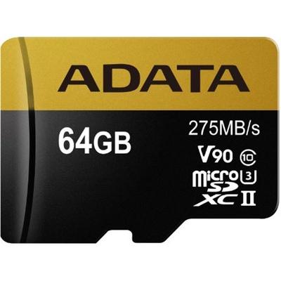ADATA 64GB Premier ONE V90 UHS II Micro SDXC Memory Card
