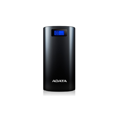 ADATA P20000D Power Bank with LCD (Black, 20000mAh)