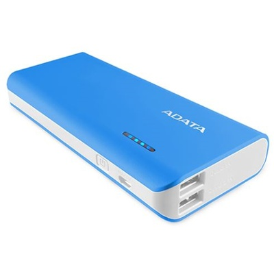 ADATA PT100 Power Bank with Flashlight (Blue/White, 10000mAh)