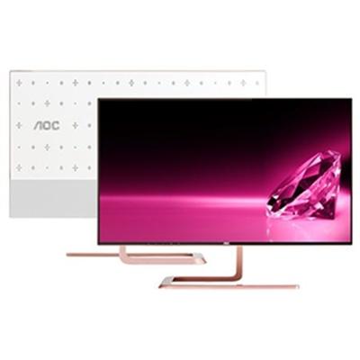 "AOC Q2781PS 27"" 2560x1440 Swarovski Ltd Ed. Monitor (Rose Gold, Crystal)"