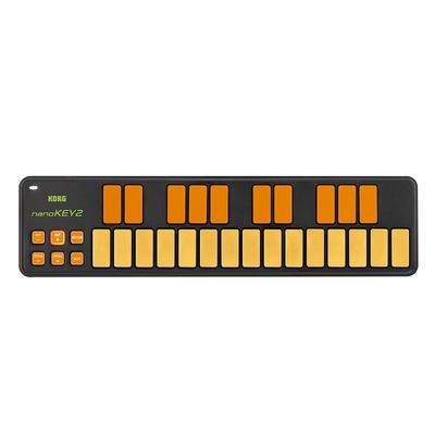 Korg nanoKEY 2 - Slim-Line USB MIDI Controller (Orange, Green)