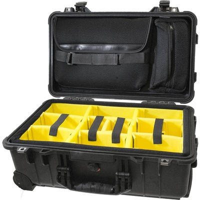 Cinegears Pelican 1510 Case with Padded Dividers and Lid Organizer (Black)