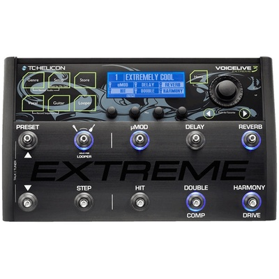 TC-Helicon VoiceLive 3 Extreme Guitar/Vocal Effects Processor and Looper with FX Automation