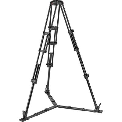Manfrotto Aluminum Twin Leg Video Tripod with Ground Spreader