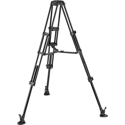 Manfrotto Aluminum Twin Leg Video Tripod with Middle Spreader