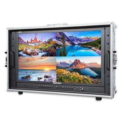 """Seetec 23.8"""" 4K(3840x2160) Ultra-HD Resolution Carry-on Broadcast Director Monitor for CCTV Monitor"""