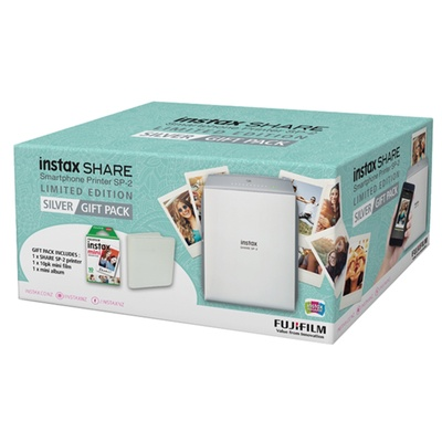 Fujifilm instax SHARE Smartphone Printer SP-2 Gift Pack (Silver)