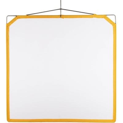 """Matthews Solid Frame Scrim White Artificial Silk 48x48"""""""