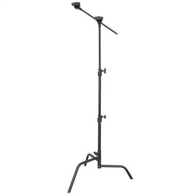 Matthews Hollywood 50cm C-Stand with Sliding Leg Grip Head and Arm 1.6m (Black)