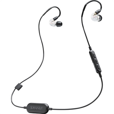Shure SE215 Sound-Isolating Earphones with RMCE-BT1 Bluetooth Cable (Clear)