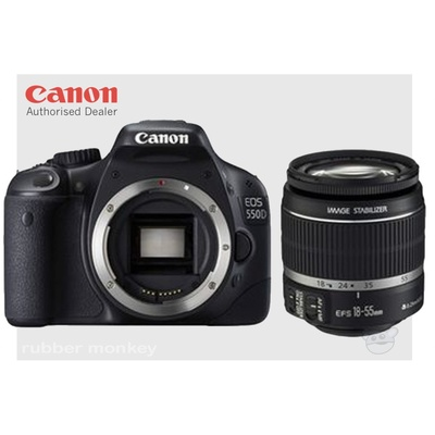 Canon EOS 550D Digital SLR Camera Body and EF 18-55mm ISII Lens