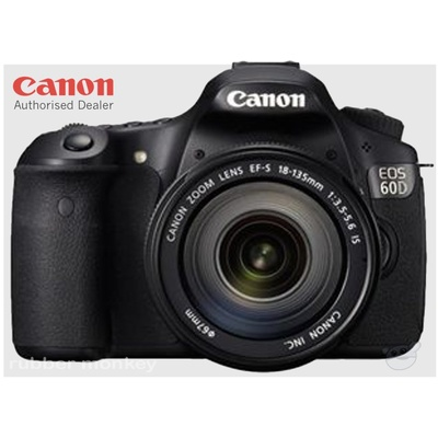 Canon EOS 60D Digital SLR Camera and EFS 18-135mm IS Lens Kit