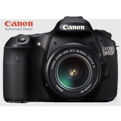 Canon EOS 60D Digital SLR Camera and EFS 18-55mm IS Lens Kit