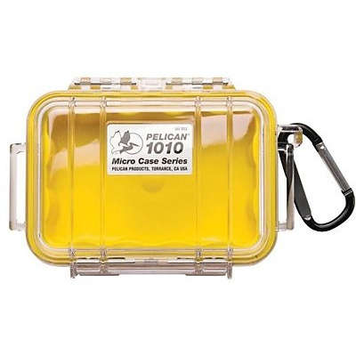 Pelican 1010 Micro Case (Yellow/Clear)