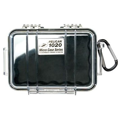 Pelican 1020 Micro Case (Black/Clear)