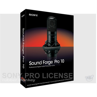 Sony Sound Forge Pro 10 Site 5 seats (per seat) with NR2.0 and CD Architect
