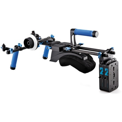 Redrock Micro Field Cinema Bundle with lowBase for Tall-Bodied Cameras - blue