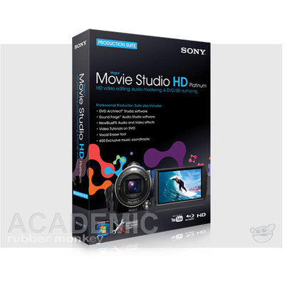 Sony Vegas Movie Studio HD Platinum 10 Production Suite Academic