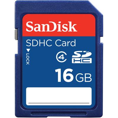 SanDisk 16GB SDHC Memory Card (Class 4)