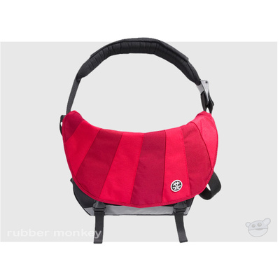 Crumpler The Barney Rustle Blanket - Gun Metal Dark Red and Red
