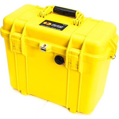 Pelican 1434 Top Loader Case with Photo Dividers (Yellow)