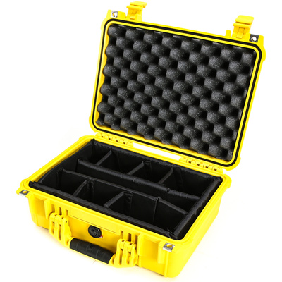 Pelican 1454 Case with Padded Dividers (Yellow)