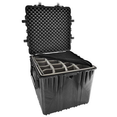 Pelican 0350 Cube Case with Padded Dividers (Black)