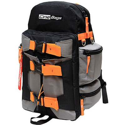 Cinebags DSLR / HD Backpack - Grey and Orange