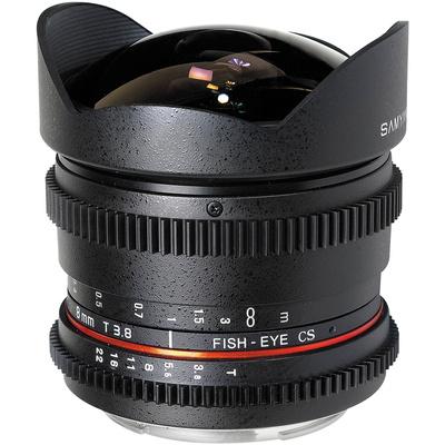 Samyang 8mm T/3.8 Fisheye Cine Lens VDSLR for Nikon