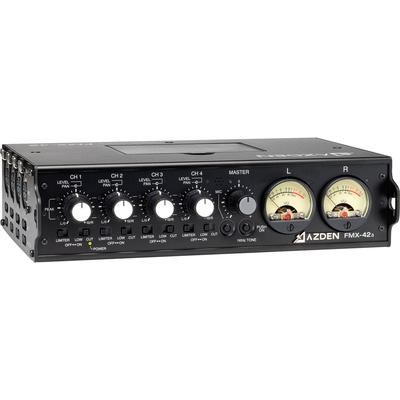 Azden FMX-42a 4-Channel Microphone Field Mixer w/ Soft Case