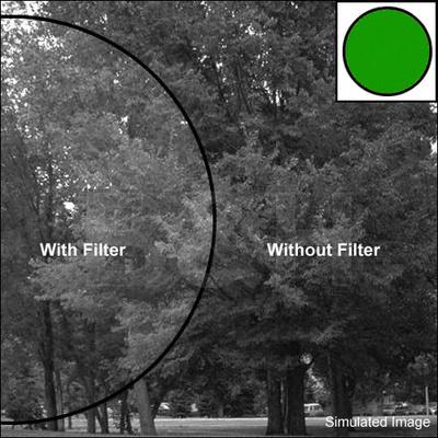 Tiffen 105c coarse thread green 58 glass filter for black white film