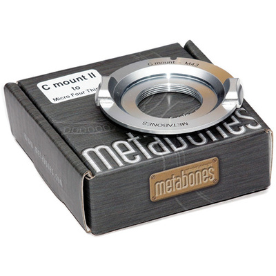 Metabones C-Mount Lens to Micro Four Thirds Lens Mount Adapter (Chrome)