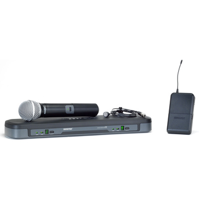 Shure PG1288-PG185 Dual Handheld and Lapel Wireles System