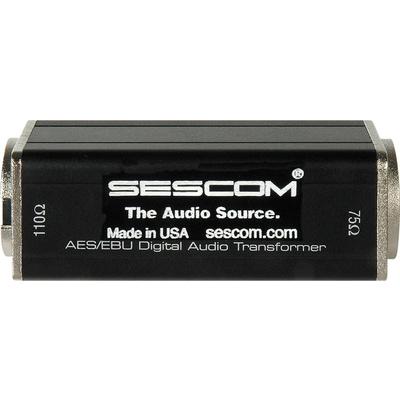Sescom SES-AES-EBU-2 BNC Female to XLR Male AES/EBU Impedance Transformer