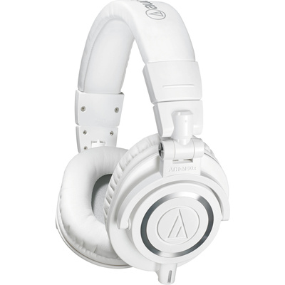 Audio Technica ATH-M50X Headphones (White)