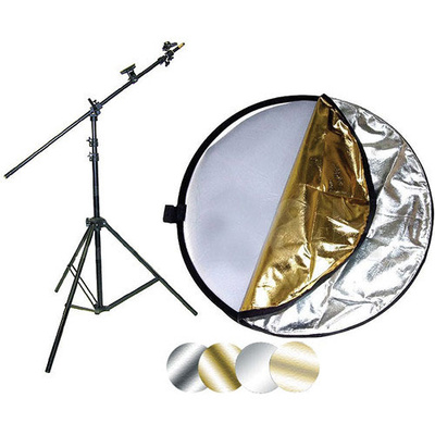 """Impact 42"""" 5-in-1 Reflector with Lightstand and Holder Kit"""